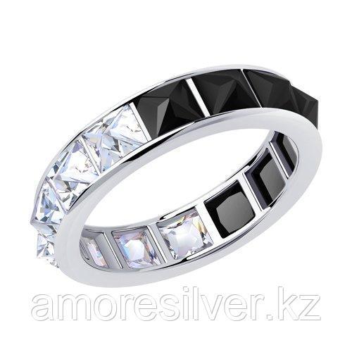 Кольцо SOKOLOV серебро с родием, фианит  94013470 размеры - 17 17,5 18 18,5 19