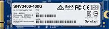 Synology SNV3400-400G Накопитель твердотельный SSD 400 GB M.2 2280 NVMe PCIe 3.0 x4 DWPD (0,68) MTBF (1,8)