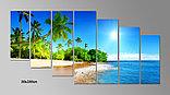 """Модульная картина """"Пляж"""", фото 3"""