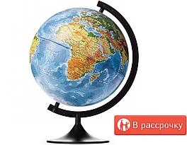 Глобус Интерактивный Рельефный 25 cм физико политический с подсветкой от батареек Живая обучающая игра