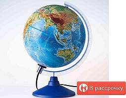 Глобус физическо политический диаметр 40 см с подсветкой