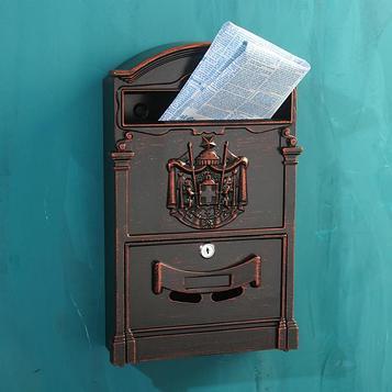 Ящик почтовый №4010В, старая медь