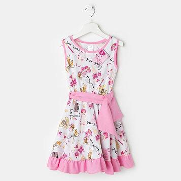 Платье «Кармен» для девочки, цвет белый рост 98 см