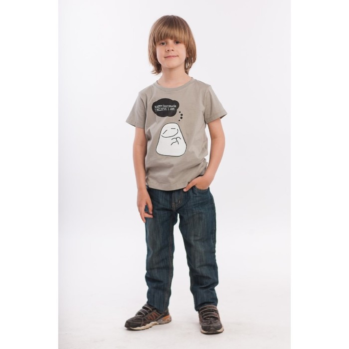Футболка для мальчика, рост 98 см, цвет хаки