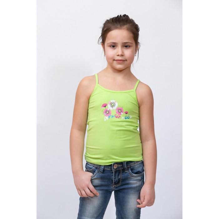 Топик для девочки, рост 104 см, цвет салатовый