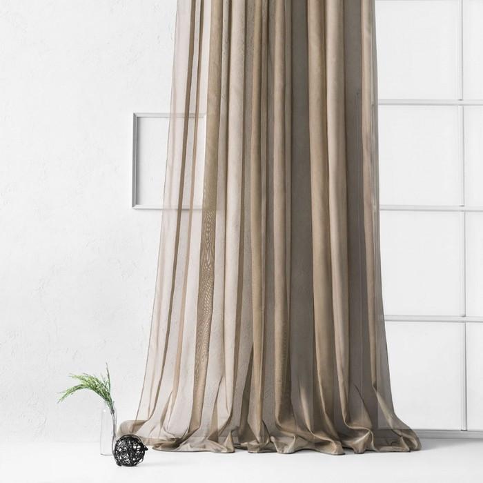 Портьера «Рохо», размер 300 х 270 см, цвет коричневый