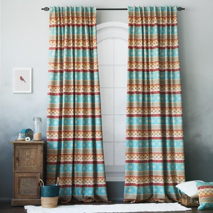 Комплект штор «Уолис», размер 170 х 270 см - 2 шт, цвет синий