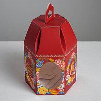 Коробка складная «Светлой Пасхи!Христос Воскресе!», 8 х 8 х 21 см