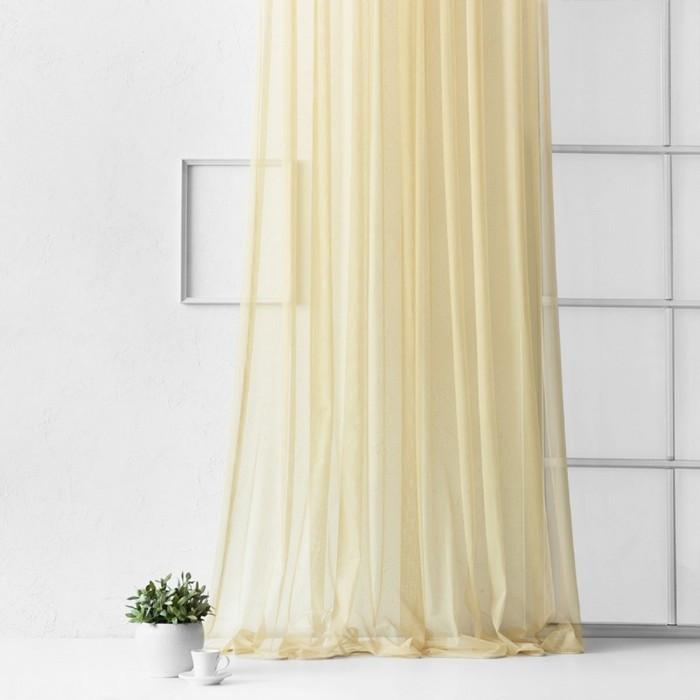 Портьера «Грик», размер 500 х 270 см, цвет бежевый