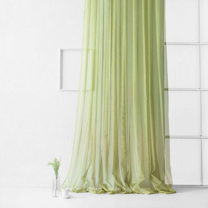 Портьера «Стори», размер 500 х 270 см, цвет зелёный