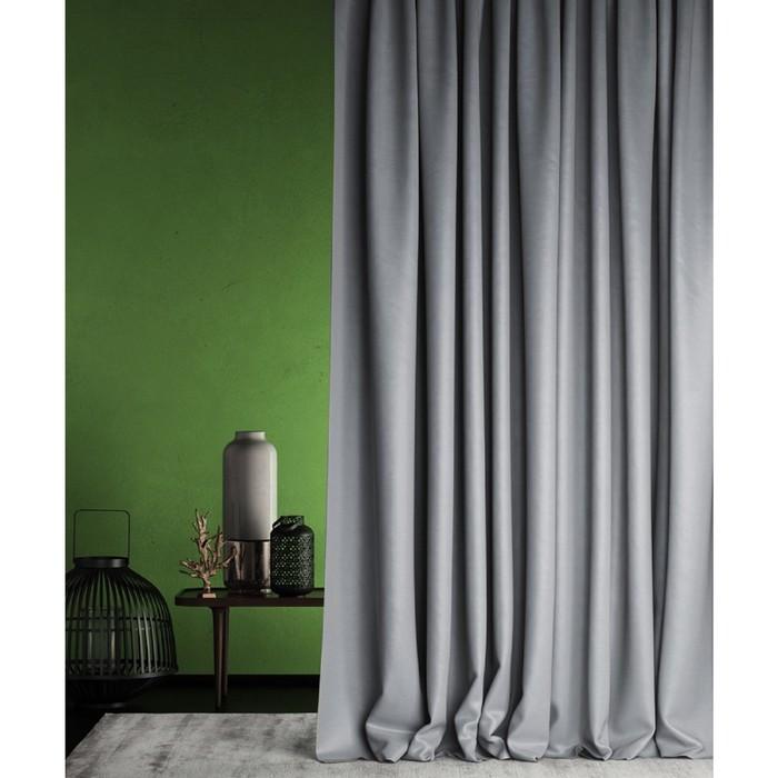 Негорючая портьера «Бали», размер 145 х 290 см, цвет серый