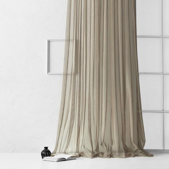 Портьера «Грик», размер 500 х 270 см, цвет капучино
