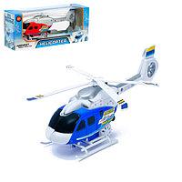 Вертолёт заводной «Спасатель», световые и звуковые эффекты, цвет синий