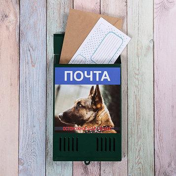 Ящик почтовый без замка (с петлёй), вертикальный, «Фото», МИКС, зелёный