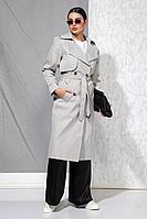 Женский осенний серый тренч Beautiful&Free 4056 серый 42р.