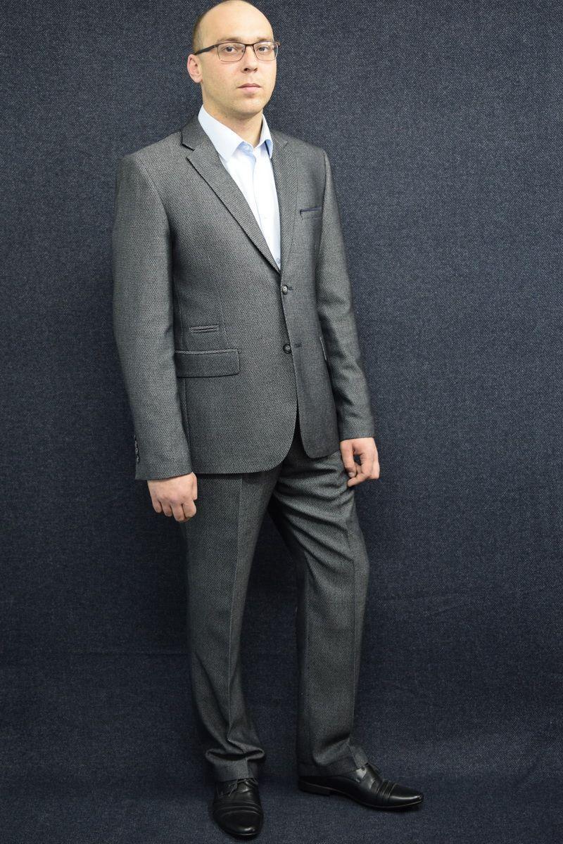 Мужской осенний серый деловой большого размера костюм DOMINION 4482D/5176D 1C28-P49 176 Темно-серый 48р. - фото 1