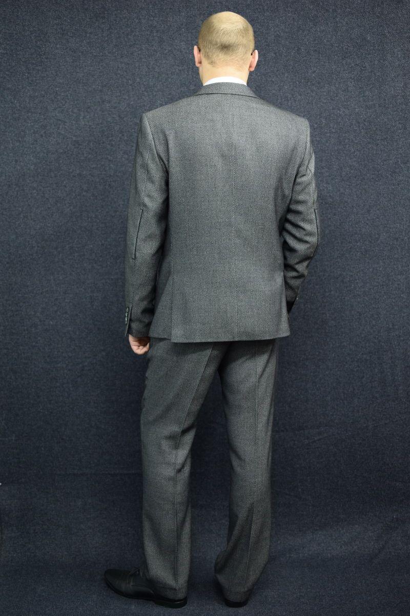 Мужской осенний серый деловой большого размера костюм DOMINION 4482D/5176D 1C28-P49 176 Темно-серый 48р. - фото 4