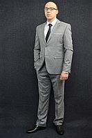 Мужской осенний серый деловой большого размера костюм DOMINION 4482D/5176D 1C28-P49 182 Светло-серый 48р.