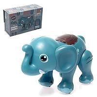 Игрушка интерактивная «Слон» с функцией записи голоса, ходит, звук