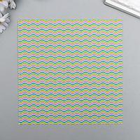 """Набор бумаги для скрапбукинга """"Яркий мотив №3"""", 15х15 см, 5 листов, 160 г/м2"""