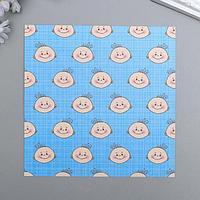 """Набор бумаги для скрапбукинга """"Малыш №7"""", 15х15 см, 5 листов, 160 г/м2"""