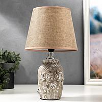Лампа настольная 08940/1BR E14 40Вт серо-коричневый 20х20х30 см