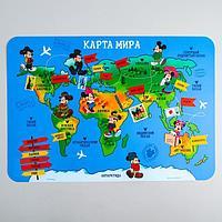 Коврик для лепки «Карта мира» Микки Маус и друзья, формат А3