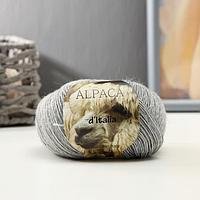 """Пряжа """"Alpaca D'Italia"""" 50% альпака, 50% нейлон 300м/50гр (501 мышиный)"""