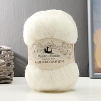 "Пряжа ""Mohair Fashion"" 35% мохер, 28% мериносовая шерсть, 37% нейлон 550м/100гр (01 белый)"