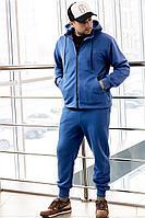 Мужской осенний трикотажный синий спортивный большого размера спортивный костюм GO M3008/20-01.176-182 46р.