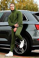 Мужской осенний трикотажный зеленый спортивный спортивный костюм GO M3000/28-02 46р.