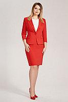 Женский осенний хлопковый красный деловой большого размера жакет Панда 436930 красный 50р.