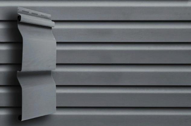 Сайдинг Графит 3000x0,204 мм Grand Line D4,4 Акриловый (slim)