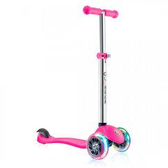 Детский трехколесный самокат Globber Primo Lights V2 Pink