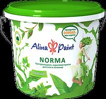 Краска ALINA PAINT водоэмульсионная протирающаяся NORMA 25кг