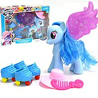 """Игровой набор """"Моя маленькая пони"""" со световыми и музыкальными эффектами Romantic Merry голубая"""