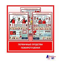 """Плакаты """"ПЕРВИЧНЫЕ СРЕДСТВА ПОЖАРОТУШЕНИЯ"""""""