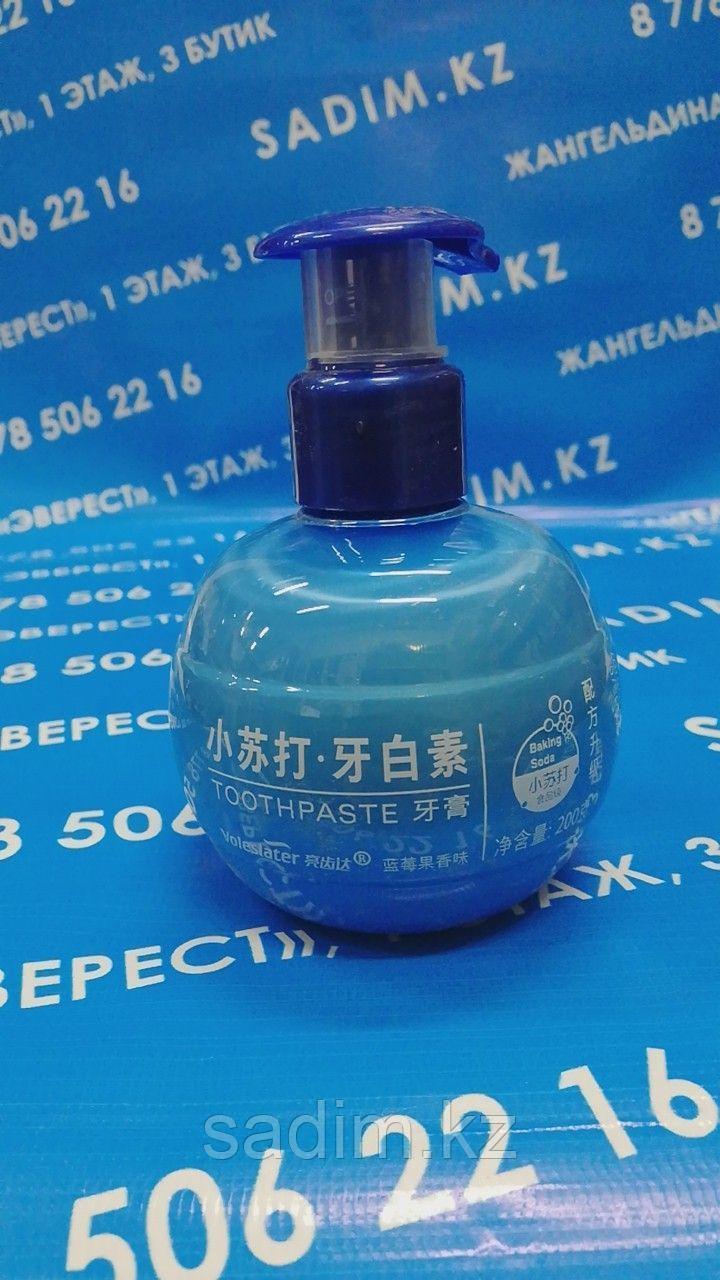 Зубная паста Toothraste с дозатором ( 200 мг)  голубой
