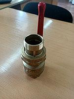 Кран шаровой DN 40 PN 1.6 МПа, со сгоном; 11Б27п9 , латунный, Беларусь