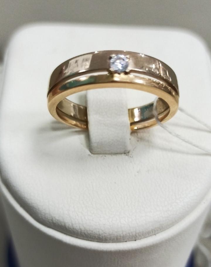 Обручальное кольцо / красное золото - 17 размер - фото 1