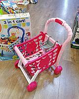 Детская тележка для супермаркета с продуктами 008-902