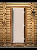 "Дверь для бани ""ПРЕСТИЖ"", Сатин, Матовое 1800х600, 8 мм"