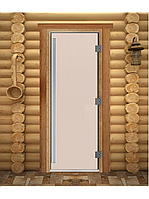 "Дверь для бани ""ПРЕСТИЖ"", Сатин, Матовое 1800х700, 8 мм"