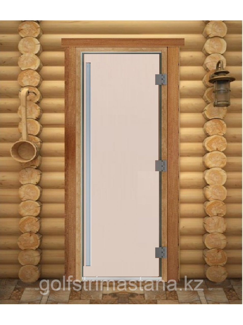 "Дверь для бани ""ПРЕСТИЖ"", Сатин, Матовое 2100х700, 8 мм"