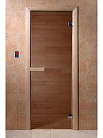 """Дверь для бани """"БРОНЗА"""" 1900*700, 6ММ, 2 ПЕТЛИ"""
