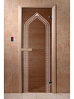 "Дверь для бани ""Арка бронза"" 1900*700, 6мм, 2 петли"