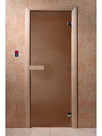 """Дверь для бани """"Бронза матовая"""" 1900*700, 6мм, 2 петли"""
