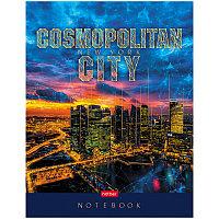 "Бизнес-блокнот А5 80л Hatber ""Cosmopolitan city"" 5-ти Цветн блок мат лам 3D фольга"