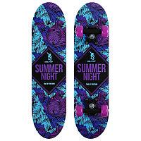 Скейтборд подростковый SUMMER NIGHT 62х16 см, колёса PVC d=50 мм