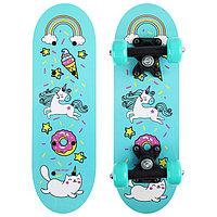 Скейтборд детский «Единорог» 44х14 см, колёса PVC d=50 мм